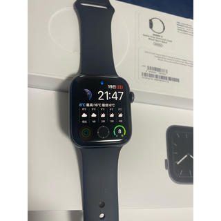 アップルウォッチ(Apple Watch)のApple Watch スペースグレー series5 GPSモデル(腕時計(デジタル))