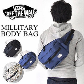 ヴァンズ(VANS)の【新品】vans バンズ ボディバッグ ショルダーバッグ ネイビー(ボディーバッグ)