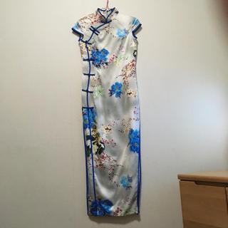 チャイナドレスブルー(その他ドレス)