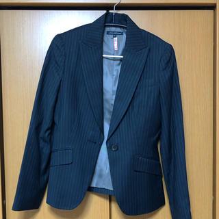 アトリエサブ(ATELIER SAB)のレディース スーツ スカート 黒ストライプ(スーツ)
