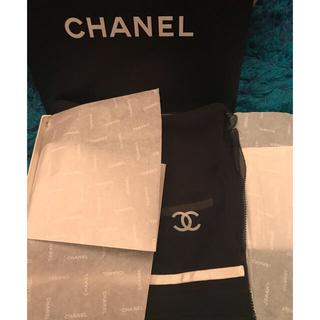 シャネル(CHANEL)のシャネル シフォン ロング シルク ストール 新品、タグつき(ストール/パシュミナ)