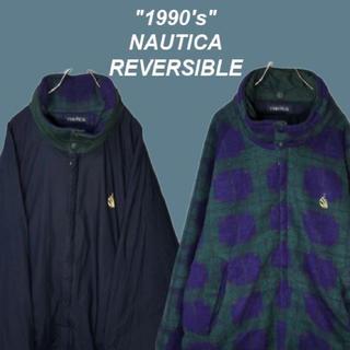 ノーティカ(NAUTICA)の【1990's】ノーティカ☆リバーシブルフリースセーリングジャケットM1134(ブルゾン)