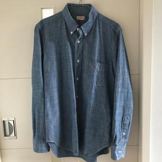 ザリアルマッコイズ(THE REAL McCOY'S)のザリアルマッコイズ ボタンダウン シャンブレーシャツ S001  サイズ16(シャツ)
