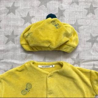 ミナペルホネン(mina perhonen)のミナペルホネン ロンパースSと帽子(ロンパース)