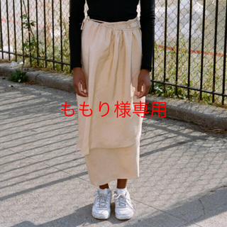 ジョンリンクス(jonnlynx)の6/2まで専用 baserange Gada Skirt  Silk Voile(ロングスカート)