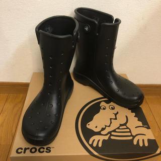 クロックス(crocs)のcrocs レインブーツ reny Ⅱ boot 黒 26cm(長靴/レインシューズ)