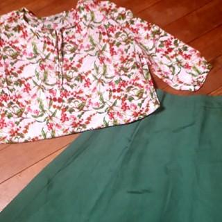 アルファキュービック(ALPHA CUBIC)の【美品】DECOY フレアースカート(ひざ丈スカート)