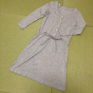ムジルシリョウヒン(MUJI (無印良品))の無印良品 シルク混の前開きワンピース 授乳服にも(マタニティワンピース)