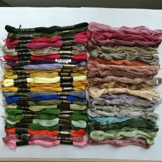 オリンパス(OLYMPUS)の刺繍糸 OLYMPUS オリンパス 25番 未使用 45本45色セット (生地/糸)