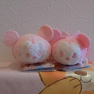 ディズニー(Disney)のツムツム ミッキー ミニー 2つセット パステルカラー(ぬいぐるみ)