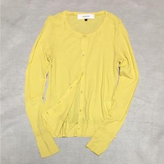 ルシェルブルー(LE CIEL BLEU)の美品 ルシェル カーディガン 春服 スプリング シースルー 透け感 春服(カーディガン)