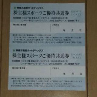 東急不動産 株主様スポーツご優待共通券 2枚(その他)
