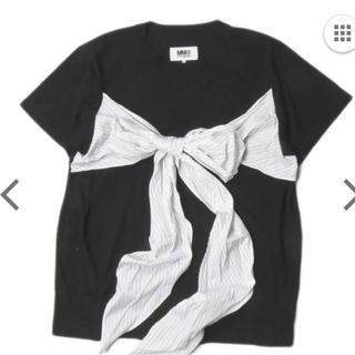 エムエムシックス(MM6)のMM6 エムエムシックス 18SS イタリア製 フロントリボンコットンTシャツ(Tシャツ/カットソー(半袖/袖なし))