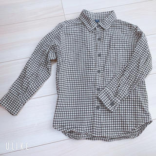ユニクロ(UNIQLO)のユニクロシャツ 110 羽織り カッター(Tシャツ/カットソー)
