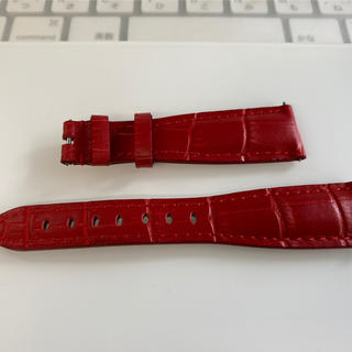 ガガミラノ(GaGa MILANO)のガガミラノ  40mm用の赤色のレザーベルトです。(レザーベルト)