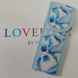 フェイラー(FEILER)のラブラリーサムシングブルー リボン☆M-StyleLuxeコラボ☆限定ペンケース(ペンケース/筆箱)
