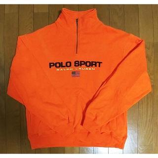 ポロラルフローレン(POLO RALPH LAUREN)の90's POLO SPORT ポロスポーツ ハーフジップスウェット L(スウェット)