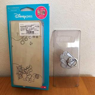 ディズニー(Disney)のGalaxy Note8用 ブックタイプケース 手帳型カバー(Androidケース)
