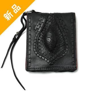 ロエン(Roen)の定価5.4万・新品★BLACK HONEY CHILI COOKIEレザー財布(折り財布)