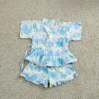 エフオーキッズ(F.O.KIDS)の美品◆ アプレレクール 甚平 女の子 110(甚平/浴衣)