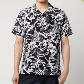 アドポーション(ADPOSION)の新品★ADPOSION アロハシャツ メンズM ネイビー(シャツ)