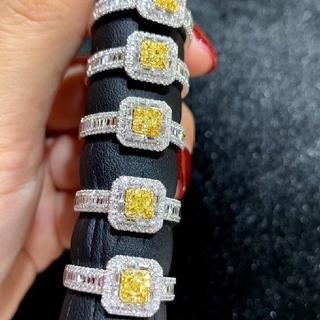 天然イエローダイヤモンドリング0.6ct(リング(指輪))