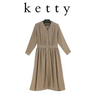 ケティ(ketty)のM-新品 ケティ パウダーサテン2wayワンピース¥19,800 (税込)(ロングワンピース/マキシワンピース)