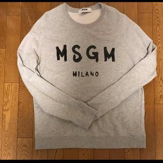 エムエスジイエム(MSGM)のMSGM トレーナー スウェット グレー XL(スウェット)