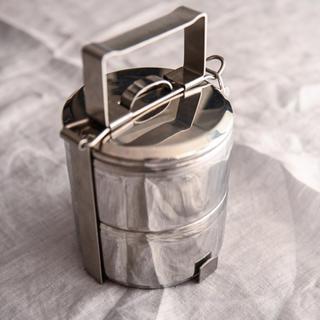 ゼブラ(ZEBRA)のZEBRA ステンレス2段ランチボックス(弁当用品)