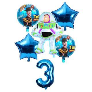 ディズニー(Disney)の3歳  の  お誕生日に◎ バースデー バルーンセット  バズ 男の子絶対喜ぶ☆(その他)