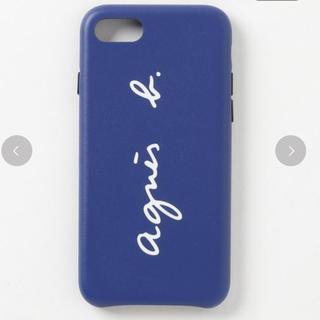 アニエスベー(agnes b.)のアニエスベー iPhoneケース ブルー ✨新品未使用✨(iPhoneケース)