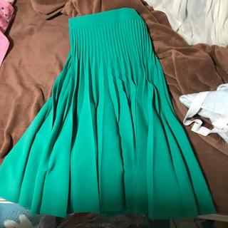 リリーブラウン(Lily Brown)のlily brownグリーンスカート(ロングスカート)
