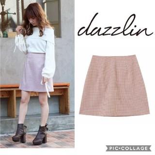 ダズリン(dazzlin)の【新品】ダズリン ギンガムチェックミニ台形スカート(ミニスカート)