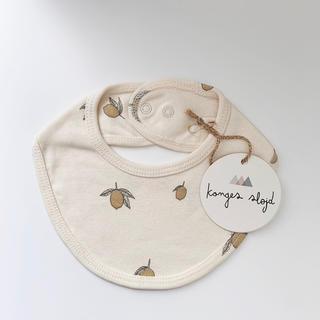 キャラメルベビー&チャイルド(Caramel baby&child )の《新品未使用》kongessloejd  /  bib - lemon(ベビースタイ/よだれかけ)