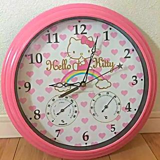 ハローキティ(ハローキティ)のハローキティ 湿温度計付き時計(掛時計/柱時計)