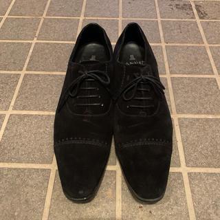 ランバンコレクション(LANVIN COLLECTION)のLANVIN Collection  スウェード ブラック 美品(ドレス/ビジネス)