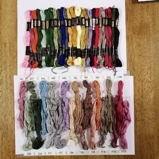オリンパス(OLYMPUS)の刺しゅう糸 OLYMPUS オリンパス刺繍糸 25番 未使用 45色セット (生地/糸)