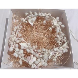 CA4LA BRIDAL 花冠 髪飾り ホワイト ヘッドドレス