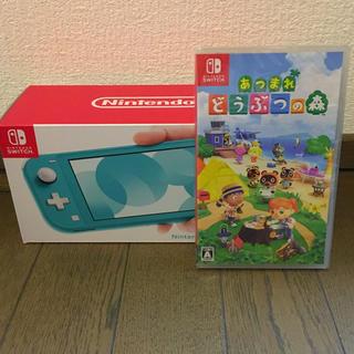 ニンテンドースイッチ(Nintendo Switch)の翌発送 新品 Switch lite 本体 あつまれ どうぶつの森 セット(家庭用ゲーム機本体)