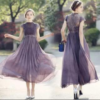 ザラ(ZARA)の結婚式 二次会 お呼ばれ ロング ワンピース シフォン ドレス(ロングドレス)