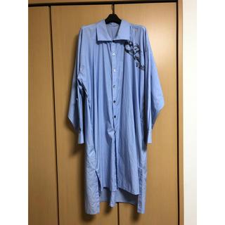 ヨウジヤマモト(Yohji Yamamoto)のヨウジヤマモト 17aw ストライプロングシャツ(シャツ)