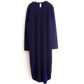 エドウィナホール(Edwina Hoerl)のEdwina horl RIB BIG DRESS リブビッグドレス ワンピース(ロングワンピース/マキシワンピース)