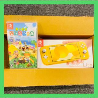 ニンテンドースイッチ(Nintendo Switch)の任天堂 Switch Lite 本体 イエロー どうぶつの森セット(家庭用ゲーム機本体)