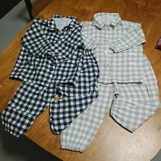 ムジルシリョウヒン(MUJI (無印良品))の専用ページ☆無印良品 パジャマ 80~90 ネイビーのみ(パジャマ)