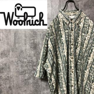 WOOLRICH - 【激レア】ウールリッチ☆メキシコ製半袖エスニック柄フィッシュ柄総柄シャツ 90s