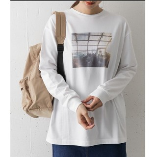 ドアーズ(DOORS / URBAN RESEARCH)の今季*新品*フォトプリントチュニックTEE(Tシャツ(長袖/七分))