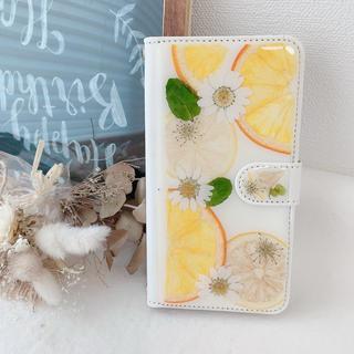iPhone11Promax 押し花手帳型ケース(スマホケース)