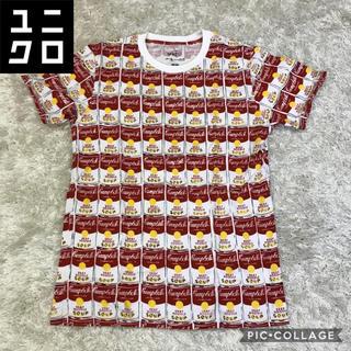 アンディウォーホル(Andy Warhol)の✔︎希少 Andy Warhol Campbell缶 デザイン Tシャツ モーマ(Tシャツ/カットソー(半袖/袖なし))