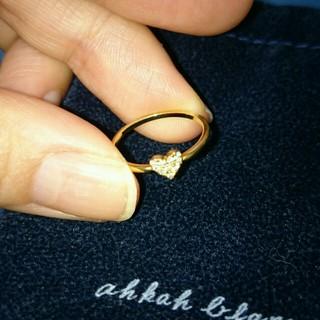 アーカー(AHKAH)のアーカーAHKAHハートパヴェリング (リング(指輪))