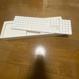 アップル(Apple)のApple magic keyboard テンキー付 の販売です。 送料無料(PC周辺機器)